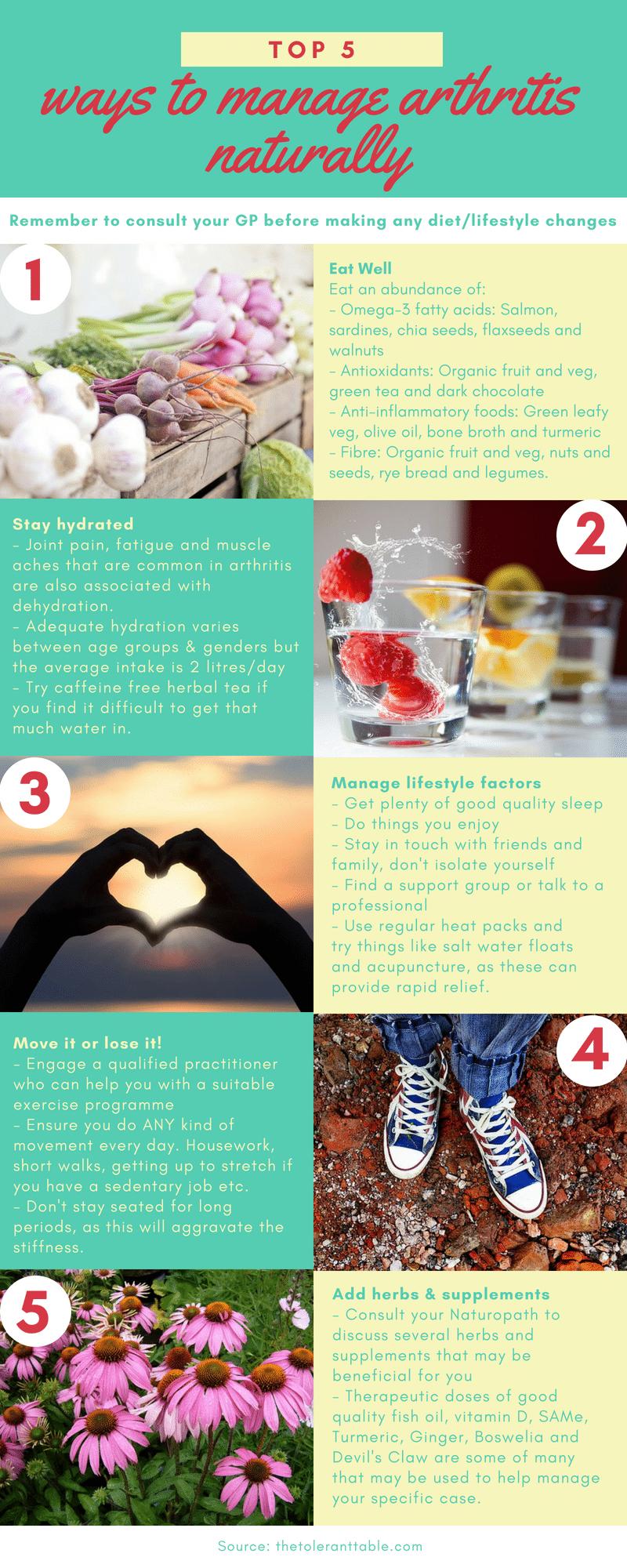 Top 5 ways to manage arthritis naturally