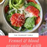 Fennel and blood orange salad with hemp oil dressing Pinterest